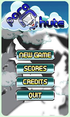 A Parachute game for Android mobile. Arcade game screen of a jungle jump level.